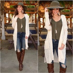 Cream Soft & Cozy Knit Cardigan